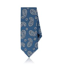 Drake's - Blue Paisley-print Linen for Men - Lyst