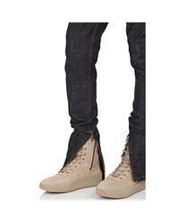 Fear Of God Blue Ankle-zip Slim Jeans for men