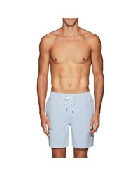 Onia - Blue Charles Seersucker Swim Trunks for Men - Lyst
