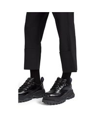 Raf Simons Black Cuff-detailed Wool Slim Trousers for men