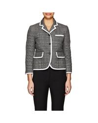 Thom Browne - Gray Down-quilted Cashmere Three - Lyst