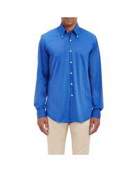 Piattelli Blue Corded Shirt for men