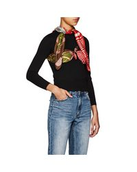 MARINE SERRE Black Silk-scarf-overlay Knit Top