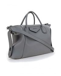 Givenchy Antigona Soft Medium Handbag - Womens - Gray