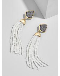 BaubleBar White Toryn Tassel Earrings