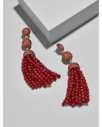 BaubleBar - Red Tinsley Tassel Earrings - Lyst