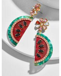 BaubleBar Multicolor Watermelon Drop Earrings
