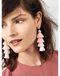 BaubleBar | Pink Gabriela Stud Fringe Drops | Lyst