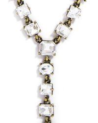 BaubleBar - Metallic Princess Gem Y-chain - Lyst