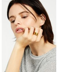BaubleBar - Yellow Button Up Ring - Lyst