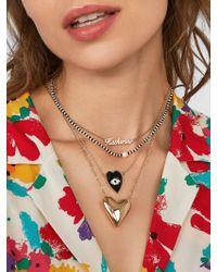 BaubleBar Multicolor Avy Heart Pendant Necklace