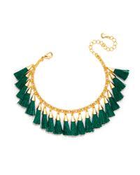 BaubleBar | Green Festival Tassel Bracelet | Lyst