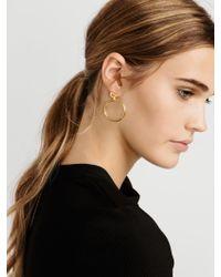 BaubleBar Metallic Hooping Hoop Earrings