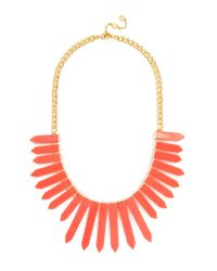 BaubleBar | Orange Marble Ra Bib-coral | Lyst