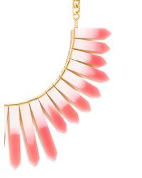 BaubleBar - Metallic Ombré Ra Bib - Pink Ombre/gold - Lyst