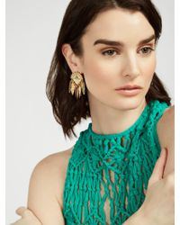 BaubleBar - Metallic Palenque Drops-turquoise/antique Gold - Lyst