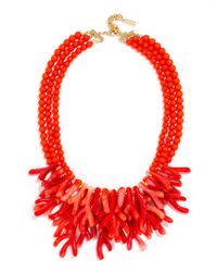 BaubleBar | Orange Coral Reef Collar | Lyst