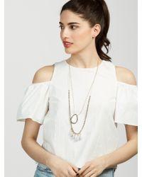 BaubleBar   Metallic Graylady Necklace   Lyst
