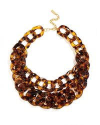 BaubleBar | Brown Double Tortoise Link Collar | Lyst