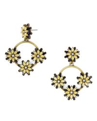 BaubleBar | Metallic Eila Crystal Floral Hoops | Lyst