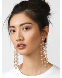 BaubleBar - Black Shiori Flower Drop Earrings - Lyst