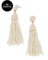 BaubleBar - White Piñata Tassel Earrings - Lyst