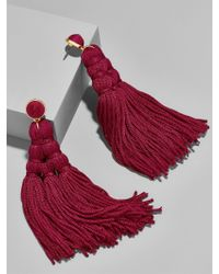 BaubleBar - Red Miana Tassel Earrings - Lyst