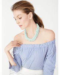 BaubleBar - Green Myra Beaded Collar - Lyst