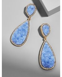 BaubleBar - Moonlight Druzy Drop Earrings-light Blue - Lyst