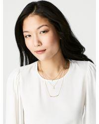 BaubleBar - Metallic Tania Layered Necklace - Lyst