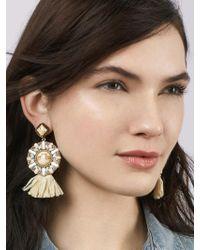 BaubleBar - Metallic Tahera Raffia Drop Earrings - Lyst
