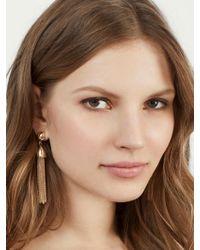 BaubleBar - Metallic Chain-link Tassel Drop Earrings - Lyst