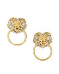 BaubleBar | Metallic Panthera Lion Head Earrings | Lyst