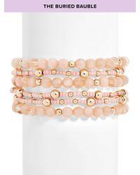 BaubleBar - Multicolor Bitty Beaded Bracelet - Lyst