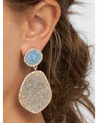 BaubleBar Multicolor Vina Druzy Drop Earrings