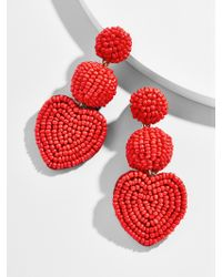 BaubleBar Red Vitina Heart Drop Earring