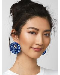 BaubleBar - Blue Macaria Hoop Earrings-cobalt - Lyst