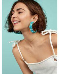 BaubleBar - Multicolor Emma Flower Hoop Earrings - Lyst