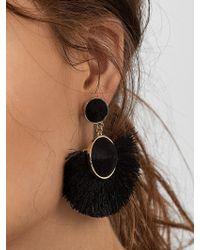 BaubleBar Purple Marinella Fringe Drop Earrings