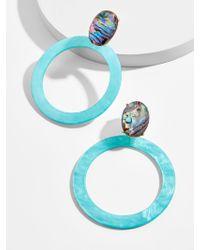 BaubleBar - Multicolor Terisia Resin Hoop Earrings - Lyst