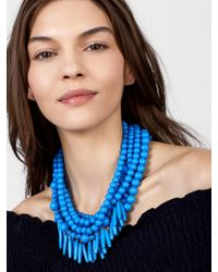BaubleBar - Blue Malibu Statement Necklace - Lyst
