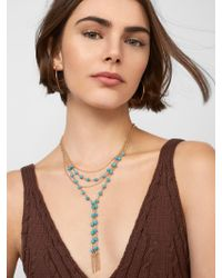BaubleBar - Multicolor Oralia Layered Y-chain Necklace - Lyst