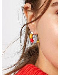BaubleBar - White Manila Huggie Hoop Earrings - Lyst