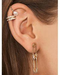 BaubleBar Metallic Charmae Safety Pin Earrings