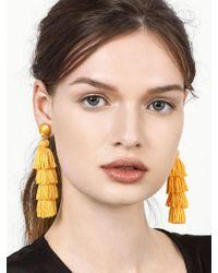BaubleBar - Yellow Taylor Tassel Earrings - Lyst
