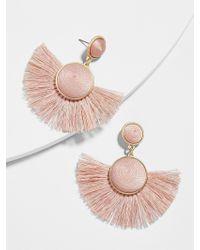 BaubleBar - Pink Marinella Fringe Drop Earrings - Lyst