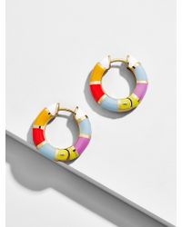 BaubleBar Multicolor Manila Huggie Hoop Earrings