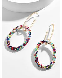 BaubleBar Multicolor Marina Hoop Earrings