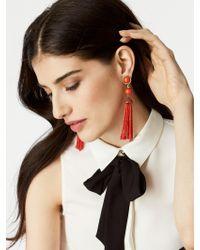 BaubleBar | Red Artemis Tassel Earrings | Lyst