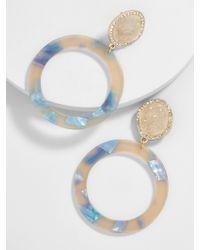 BaubleBar - Blue Devinne Resin Druzy Hoop Earrings - Lyst